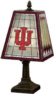 "NCAA Indiana 14"" Art Glass Table Lamp  Indiana University Lamp  Sports & Outdoors"