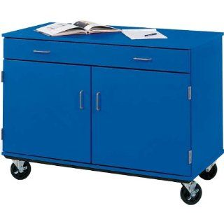 "Mobile Storage Cabinet with Doors & Drawer   48""W x 24""D x 36""H"