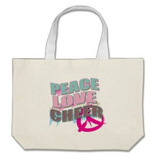 Peace, Love, Cheerleading Gifts Canvas Bag