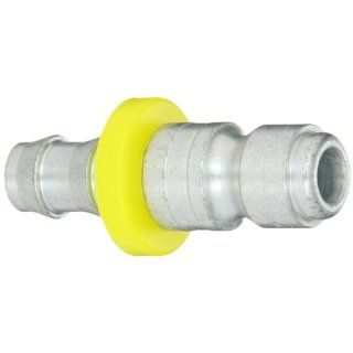 "Dixon Valve DCP544L Steel Air Chief Automotive Interchange Air Fitting, Quick Connect Plug, 3/8"" Coupling x 3/8"" Push On Hose ID Barbed, 70 CFM Flow Rating"