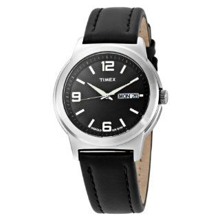 Timex Men's T2E561 Elevated Classics Dress Black Leather Strap Watch Timex Watches