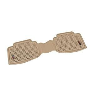 Rugged Ridge Floor Liner Rear 1 Piece Tan 2005 2011 Toyota Tacoma Double/Access Cab 83954.10