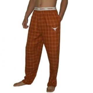 NCAA Texas Longhorns Mens Plaid Cotton Sleepwear / Pajama Pants XL Brown Clothing