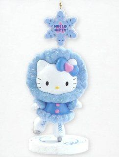 Carlton Cards Heirloom Hello Kitty Ice Skating Christmas Ornament   Christmas Bell Ornaments