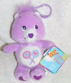 "2002 Care Bears 5"" Plush Share Bear Clip On Doll Toys & Games"