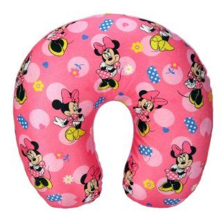 DISNEY MINNIE MOUSE GIRL TRAVEL NECK PILLOW PINK KID SIZE