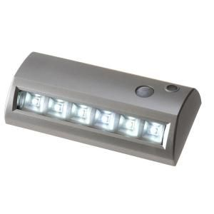 LightIt 6 in. Silver LED Wireless Motion Activated Weatherproof Path/Step Light 20032 301