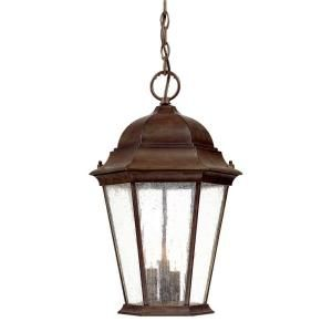 Acclaim Lighting Richmond Collection 3 Light Hanging Outdoor Burled Walnut Lantern 5226BW/SD
