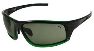 Puma Sunglasses Men's 14703P Rectangular Sunglasses,Green,90 mm Clothing