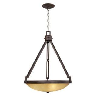 Hampton Bay Alta Loma 3 Light Dark Ridge Bronze Bowl Pendant 27054