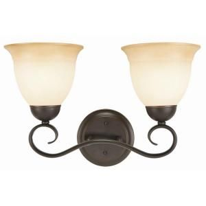 Design House Cameron 2 Light Oil Rubbed Bronze Wall Sconce 512640