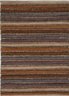 Addison and Banks AMZ_CP0252 Natural Stripe Pattern Cotton/Rayon/Polyester Hand Woven Rug, 24 by 40 Inch   Handmade Rugs