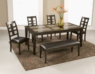 Alpine Furniture Piedmont 5 Piece Set   Dining Table & 4 Side Chairs 566 01, 566 02   Furniture Furniture Sets Kitchen Dining Furniture Sets