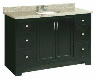 Design House 541292 Ventura 2 Door/4 Drawer Ready To Assemble Vanity, Espresso, 48 Inch by 21 Inch