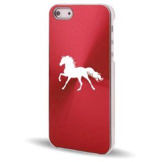 Apple iPhone 5 5S Rose Red 5C587 Aluminum Plated Hard Back Case Cover Horse Cell Phones & Accessories