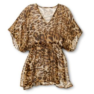 Merona Womens Leopard Print Coverup   Brown