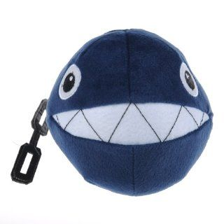 "Super Mario Brothers Chain Chomp Plush Toy Doll Blue 5"" Toys & Games"