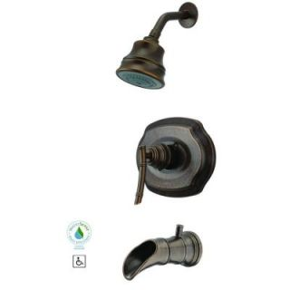 Pegasus Bamboo Single Handle 3 Spray Tub and Shower Faucet in Heritage Bronze 873 W096H