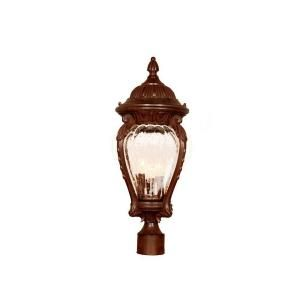 Acclaim Lighting Nottingham Collection 3 Light Outdoor Burled Walnut Post Light 7009BW