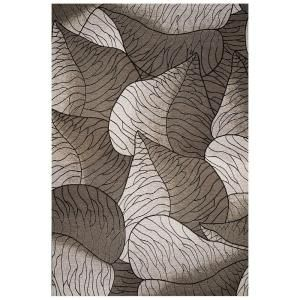 Kas Rugs Leaf Motif Silver 6 ft. 9 in. x 9 ft. 6 in. Area Rug HOR571969X96