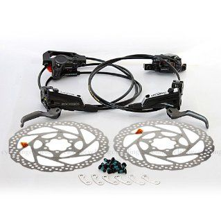 SHIMANO Deore BR M596 BL M596 Hydraulic Brake Front & Rear Black RT56 Rotor  Bike Disc Brake Sets  Sports & Outdoors