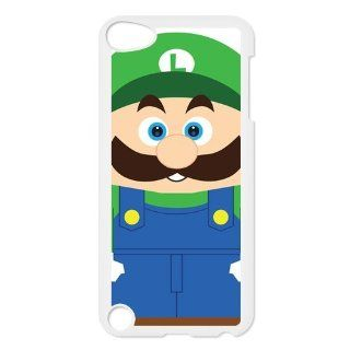 Funny Cartoons Anime Nintendo Game Super Mario Bros Luigi Personalized Ipod Touch 5th Hard Plastic Case Cover   Players & Accessories