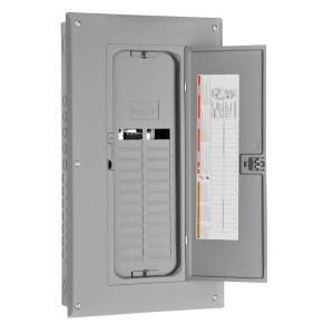 Square D by Schneider Electric Homeline 125 Amp 24 Space 24 Circuit Indoor Main Lugs Load Center with Cover and Factory Installed Ground Bar HOM24L125TC