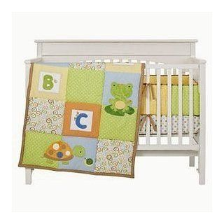 Tiddliwinks Pond Friends 3pc Baby Crib Bedding Set (Turtle, Frog, Bug, etc.)  Baby
