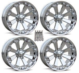 "MSA M20 Kore ATV Wheels/Rims Chrome 14"" Polaris Sportsman RZR Ranger (4) Automotive"