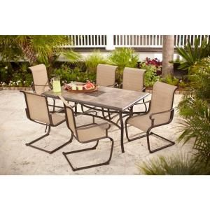 Hampton Bay Belleville 7 Piece Patio Dining Set FCS80198ST