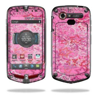 MightySkins Protective Vinyl Skin Decal Cover for Casio G'zOne Commando 4G LTE C811 GZ1 Verizon Cell Phone Sticker Skins Pink Star Cell Phones & Accessories