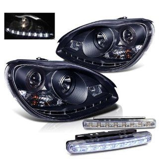 2000 2005 MERCEDES BENZ W220 S CLASS HALO PROJECTOR HEAD LIGHTS + LED FOG BUMPER Automotive