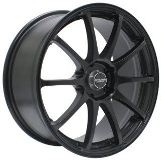 Kyowa Racing Series 626 All Matte Black   17 x 7 Inch Wheel Automotive
