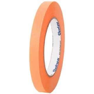 "Pratt Plus CP 632 Shurtape Commercial Premium Heavy Duty Paper Masking Tape, 22 lbs/inch Tensile Strength, 60 yds Length x 1/2"" Width, 3"" Core, Orange (Pack of 12)"