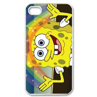 Personalized Cartoon SpongeBob SquarePants Protective Snap on Cover Case for iPhone 4/4S SS310 Cell Phones & Accessories