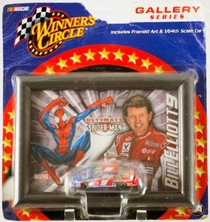 2002   Action / Winner's Circle   Marvel / NASCAR   Gallery Series   Bill Elliott #9   Dodge / Ultimate Spiderman Framed Art & 164 Scale Die Cast Car   MOC   Out of Production   Limited Edition   Collectible Toys & Games