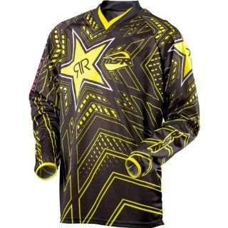 Rockstar Energy Drink Officially Licensed MSR Youth Boys Off Road/Dirt Bike Motorcycle Jersey   Black/Yellow / Medium Automotive