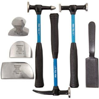 Martin 647KFG 7 Piece Body and Fender Repair Tool Set, Fiberglass Handles