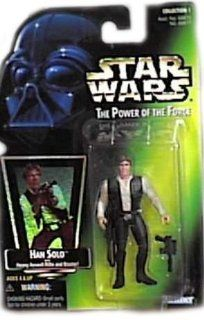 Star Wars Power of the Force Hologram Green Card Han Solo with Heavy Assault Rifle and Blaster Toys & Games