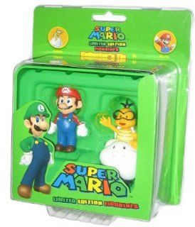 Nintendo Super Mario Bros. Collector Tin Mario and Lakitu Figure Set GH332 Toys & Games