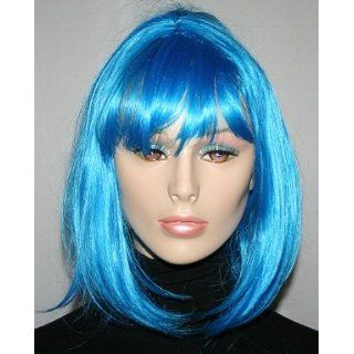 Blue Bouffant Adult Costume Wig Clothing