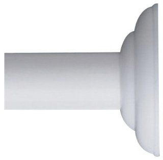Zenith/bathware 653WW White Decorative Screw Mount Shower Rod Beauty