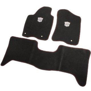 2004 2008 Nissan Titan/Armada Infiniti QX56 Transformer Autobot Floor Mats   Black Automotive