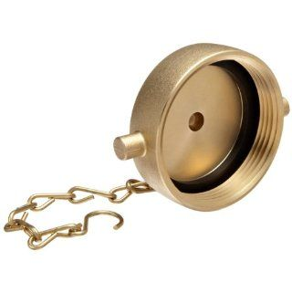 "Moon 662 2521 Brass Fire Hose Fitting, Cap, 2 1/2"" NH Cap"