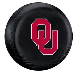 Oklahoma Sooners Black Spare Tire Cover   College Tire Covers  Automotive Tire Covers  Sports & Outdoors