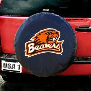 Oregon State Beavers NCAA Spare Tire Cover (Standard) (Black)  Sports Fan Tire And Wheel Covers  Sports & Outdoors