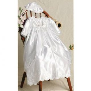 Baby Girls White Jacket Christening Baptism Gown 3pc. Set 18 24M Angels Garment Clothing