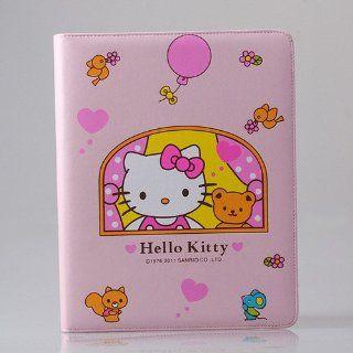 PINK BEAR HELLO KITTY LEATHER CASE & STAND FOR iPAD 2 & 3. Computers & Accessories