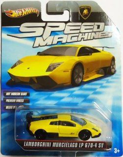 LAMBORGHINI MURCIELAGO LP 670 4 SV 2009 2010 Hot Wheels Speed Machines LAMBORGHINI MURCIELAGO LP 670 4 SV (yellow) 164 Scale Collectible Die Cast Car