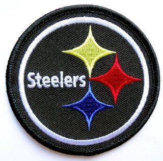 PITTSBURGH STEELERS NFL EMBROIDERED PATCH 3 inches (Black)